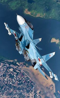 "Russian Air Force Sukhoi ""Flanker-C"" Airplane Fighter, Fighter Aircraft, Military Jets, Military Weapons, Air Fighter, Fighter Jets, Su27 Flanker, Photo Avion, Military Aircraft"