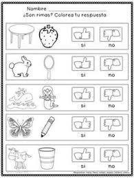 Resultado De Imagen Para Palabras Que Rimen Con Sus Dibujos Para Colorear Actividades De Rimas Recursos De Ensenanza De Espanol Palabras Que Riman