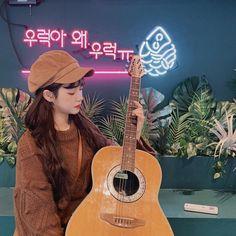 Preety Girls, Jung Yoon, Ulzzang Korean Girl, Guitar, Photography, Beauty, Beautiful, Women, Angels