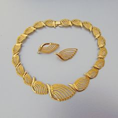Your place to buy and sell all things handmade Gold Bangles Design, Gold Earrings Designs, Gold Jewellery Design, Necklace Designs, Gold Ring Designs, Gold Necklace Simple, Gold Jewelry Simple, Gold Wedding Jewelry, Bridal Jewelry