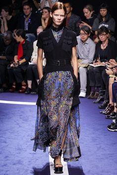 Sacai Spring 2015 Ready-to-Wear Fashion Show - Irina Kravchenko (Women)