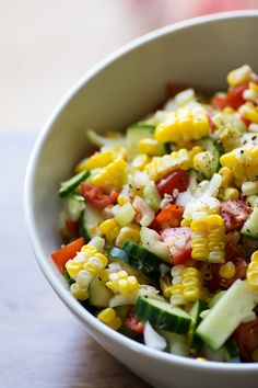 Patio Corn Salad from Stirlist.com - great recipe from @commongroundnow 's @hmaricle!!