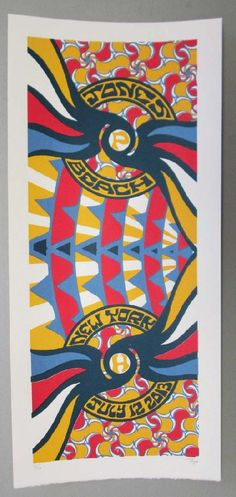 Original silkscreen concert poster Phish on July 12th at Jones Beach Theater in Jones Beach, NY in 2013. 10 x 22 inches. It is printed on Watercolor Paper with Acrylic Inks. The poster is signed and numbered out of only 90 by the artist Tripp.