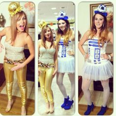 DIY r2d2 and c3po Halloween costumes