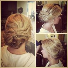 Hair and Make-up by Steph - I usually dont care for braids in bridal updos, they look too casual for me... but these fishtails dont look casual at all!