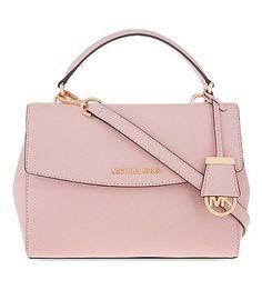 MICHAEL MICHAEL KORS Ava Small Saffiano Leather Satchel. #michaelmichaelkors…  Diese und weitere Taschen auf www.designertaschen-shops.de entdecken