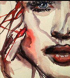 FASHION ILLUSTRATION daisy Bernard watercolour portrait
