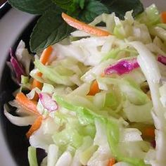 California Cole Slaw - maybe leave out some of the sugar and use EVOO
