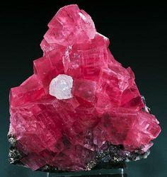 Rhodochrosite with Fluorite Murphy's Pocket, Sweet Home Mine, Alma District, Park Co., Colorado