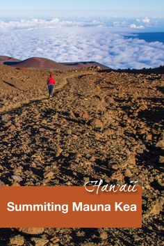 There are 3 main ways to reach the summit of Mauna Kea on the Big Island of Hawaii. We chose to drive ourselves but there are others who brave the terrain and weather and hike up.