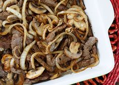 Quick Skillet Steak with Onions and Mushrooms | Skinnytaste