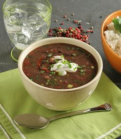 Black bean soup from Dr. Oz