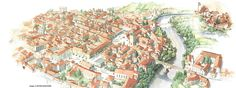 Points of Interest in Cividale and surroundings, City Photo, Vintage World Maps, Facebook, Art, Italy, Art Background, Kunst, Gcse Art, Art Education Resources