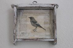 Burlap Luxe I paint with an intensely personal affair with a pale patina . Bird Crafts, Paper Crafts, Find Objects, Bird Watching, Bird Art, Creative Inspiration, Country Decor, Furniture Makeover, Mixed Media Art