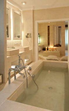 Piastrelle bagno idea lavabo in muratura