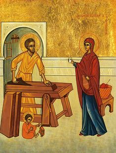 The Family of Nazareth - Icon Reproduction