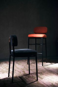"""Dualita stool and chair by david/nicolas, 2014 © Mattia Balsamini –– From our feature story """"To the Beat of Her Own Drum"""" –– Read it on Pamono"""