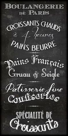 Paris chalkboard Boulangerie Patisserie menu by MarionDeLauzun