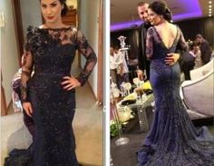 Beautiful Prom Dress, navy blue prom dresses lace evening dress prom gowns with sheer long sleeves mermaid prom gown beautiful lace formal gown Meet Dresses Navy Evening Dresses, Navy Blue Prom Dresses, Long Sleeve Evening Dresses, Elegant Prom Dresses, Prom Dresses Long With Sleeves, Prom Dresses 2018, Backless Prom Dresses, Mermaid Evening Dresses, Evening Gowns