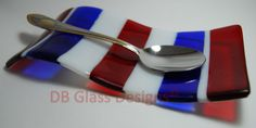 Handmade Fused Glass Spoon Rest Unique Gift for by DBGlassDesigns