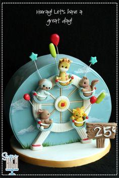 Ferris Wheel Friends Cake!