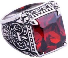 Jamie Fraser's Ruby Ring (Outlander by Diana Gabaldon) Outlander Claire, Diana Gabaldon Outlander, Outlander Series, Outlander Quotes, Mens Silver Rings, Silver Man, Sterling Silver Rings, Claire Fraser, Jamie Fraser