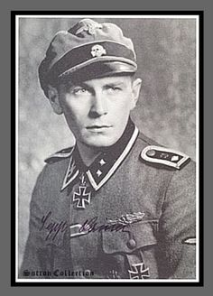 """Josef """"Sepp"""" Lainer Hauptscharfuhrer with Das Reich Received Knights Cross for his acts of bravery in repelling seven Russian attacks near Kharkov. He fought in Holland/ France/ Russia/ Normandy, wounded 5 times."""