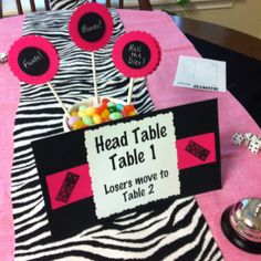 Bunco table because we need lots of directions!