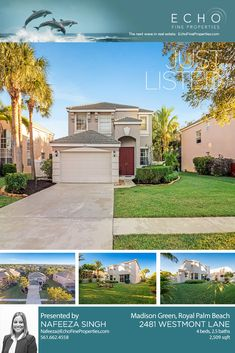 🐬Beautifully maintained open-plan home in a family-friendly neighborhood! Contact Nafeeza for info - - Royal Palm Beach, Palm Beach Fl, Palm Beach County, Flo Rida, Open Plan, Luxury Homes, The Neighbourhood, Real Estate, Mansions
