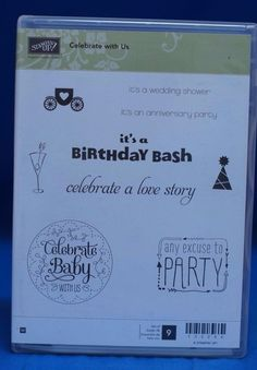 Stampin' Up Celebrate With Us Birthday Wedding Shower Baby Set of 9 Stamps NIB #StampinUp