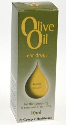 Olive oil ear drops