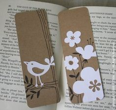 Cricut cut bookmarks with hand doodles http://alittlehut.blogspot.com/2009/06/cricut-expressions-review-part-1.html