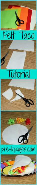 How to make felt tacos for your dramatic play center in preschool and kindergarten