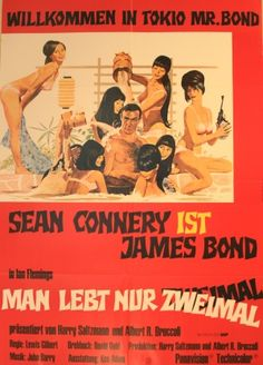James Bond You Only Live Twice, 1967 - original vintage 007 movie poster for the film starring Sean Connery, Akiko Wakabayashi and Mie Hama listed on AntikBar.co.uk