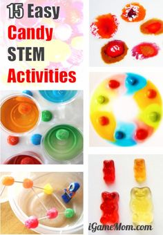 Easy Candy STEM activities for kids of all ages, no prep needed. Math, Science, Engineering, Tech activities for Halloween Valentine Easter Valentine Activities, Science Activities For Kids, Stem Science, Easy Science, Science Experiments Kids, Stem Activities, Learning Activities, Preschool Science, Elementary Science