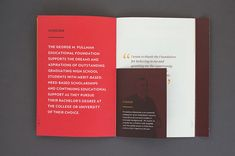 George M. Pullman Foundation Annual Report in Print