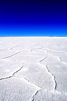 Salt Desert, Bolivia. There is a Great Courses lecture series on the Geological Wonders of the World. This is in it. Save you a fortune if you take the course!