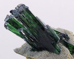 Vivianite on quartz matrix, Bolivia