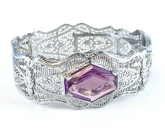 Antique Silver Filigree Bracelet Vintage by AntiqueJewelryForFun