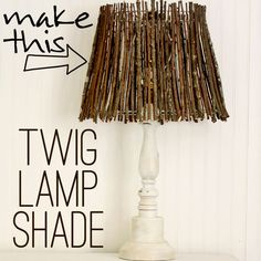 Creative Lamp Shades Adorable Twig Lamp Shade from Gina at The Shabby Creek Cottage! Cool Ideas, Rustic Lamps, Rustic Lamp Shades, Country Lamps, Diy Projects To Try, Diy Home Decor, Easy Diy, Lights, Decoration