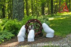 Ashbee Design Grasping Fingers garden sculpture by David and Marji Roy