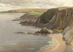 Walter-James-West-ARBSA-1936-Acquerello-Spiaggia-Polzeath