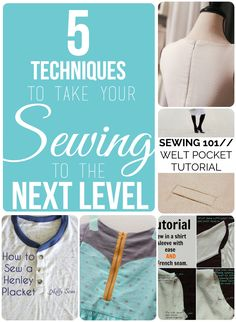 5 techniques to take your sewing to the next level!
