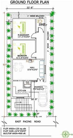 2 BHK floor plans of 24 x 60 के लिए इमेज परिणाम 2bhk House Plan, Narrow House Plans, Model House Plan, Simple House Plans, House Layout Plans, Duplex House Plans, Bedroom House Plans, House Floor Plans, The Plan