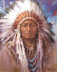 images of native american art | Presento algunos dibujos de Harley Brown, realizados con pastel, con ...