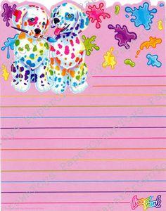 Vintage Lisa Frank Spotty & Dotty Dalmatians by PaperCrownToys, $5.00