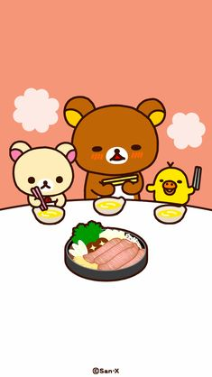 Rilakkuma Wallpaper, Sanrio Wallpaper, Kawaii Wallpaper, Cute Pastel Wallpaper, Cool Wallpaper, Pattern Wallpaper, Japanese Cartoon, Cute Japanese, Cactus Drawing