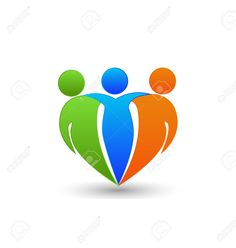 Partners Friends Teamwork Business Concept In Heart Shape Royalty Free Cliparts, Vectors, And Stock Illustration. Pic 35353988.
