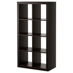 EXPEDIT Shelving unit - black-brown - IKEA On its side for a tv unit in lounge and home theatre