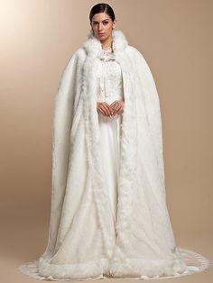 Party/Evening Faux Fur Ponchos Long Sleeve - USD $142.99